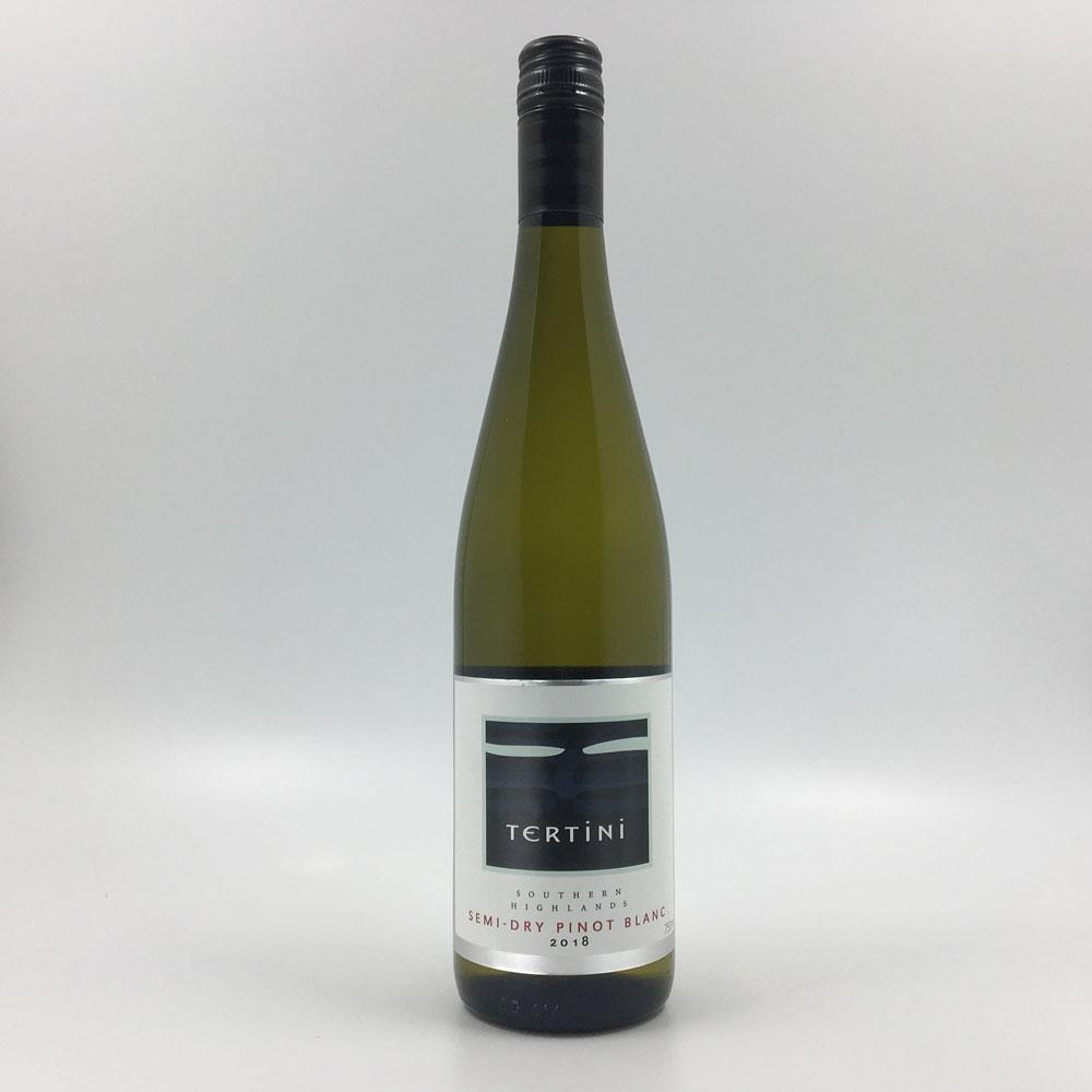 bottle of TERTINI SEMI-DRY PINOT BLANC 2018 White Wine Cultivate Local