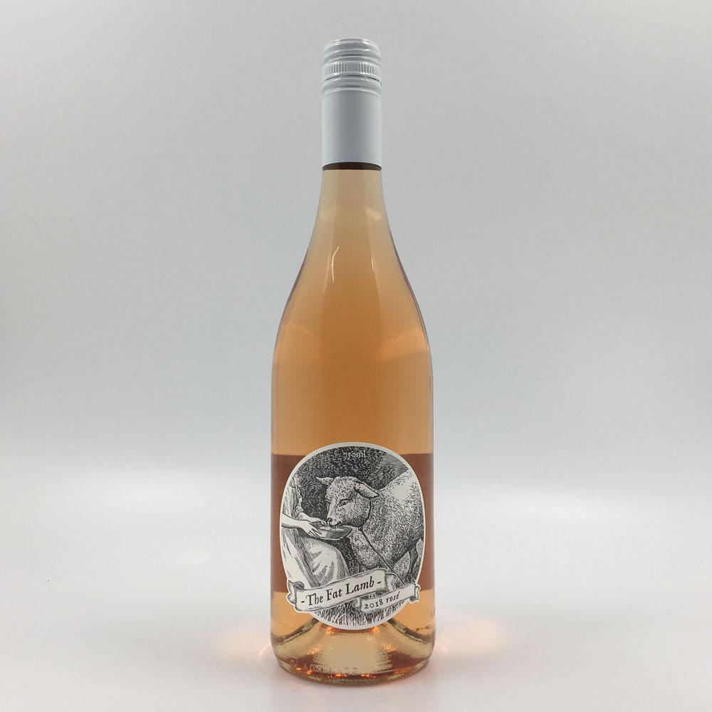 bottle of THE FAT LAMB ROSÉ 2018 Rose Wine Cultivate Local