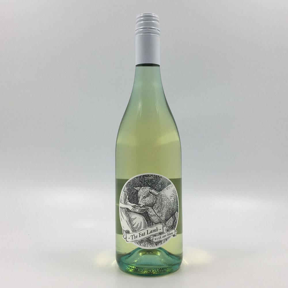 bottle of THE FAT LAMB SAUVIGNON BLANC 2018 White Wine Cultivate Local