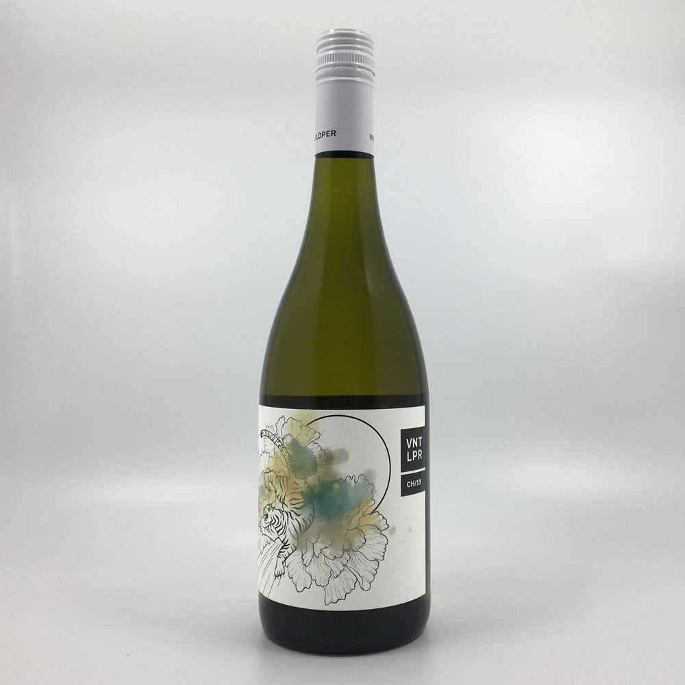 bottle of vinteloper chardonnay white wine from 2019