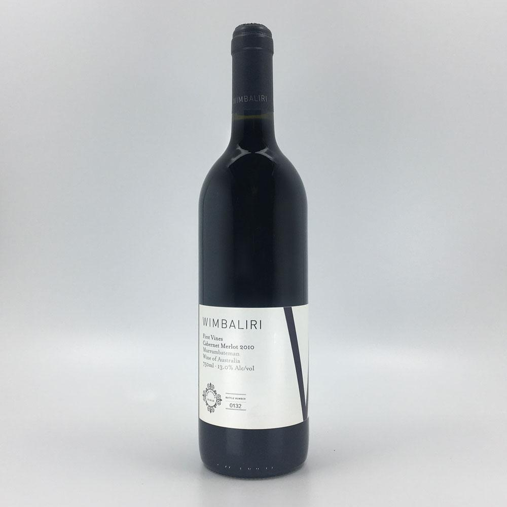 bottle of WIMBALIRI CABERNET MERLOT 2010 Red Wine Cultivate Local