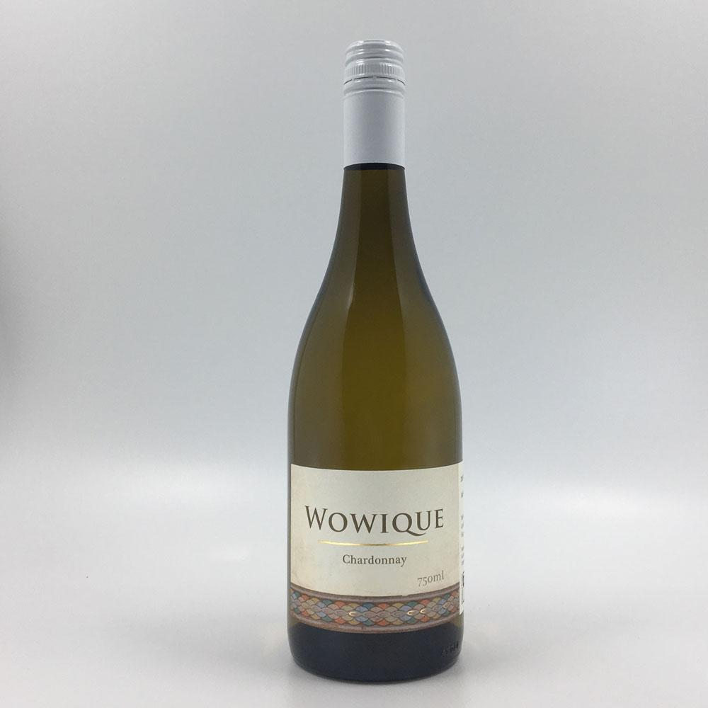bottle of WOWIQUE CHARDONNAY 2016 White Wine Cultivate Local