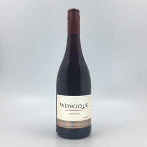 bottle of WOWIQUE PINOT NOIR 2015 Red Wine Cultivate Local