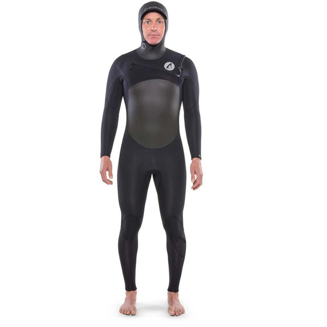 ISURUS TI EVADE 4.3 HOODED CHEST ZIP WETSUIT