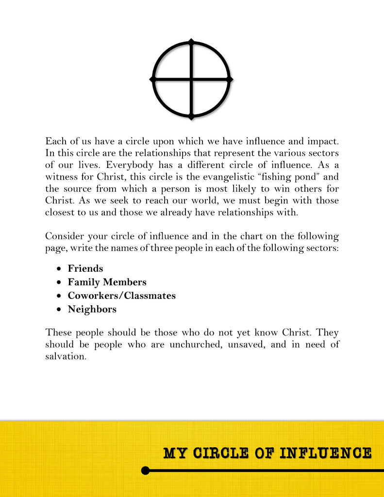 Circle Of Influence Worksheet - The Best and Most ...