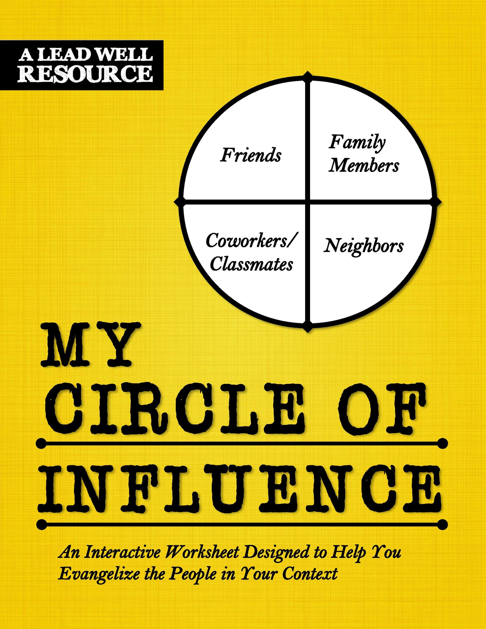 My Circle of Influence Worksheet
