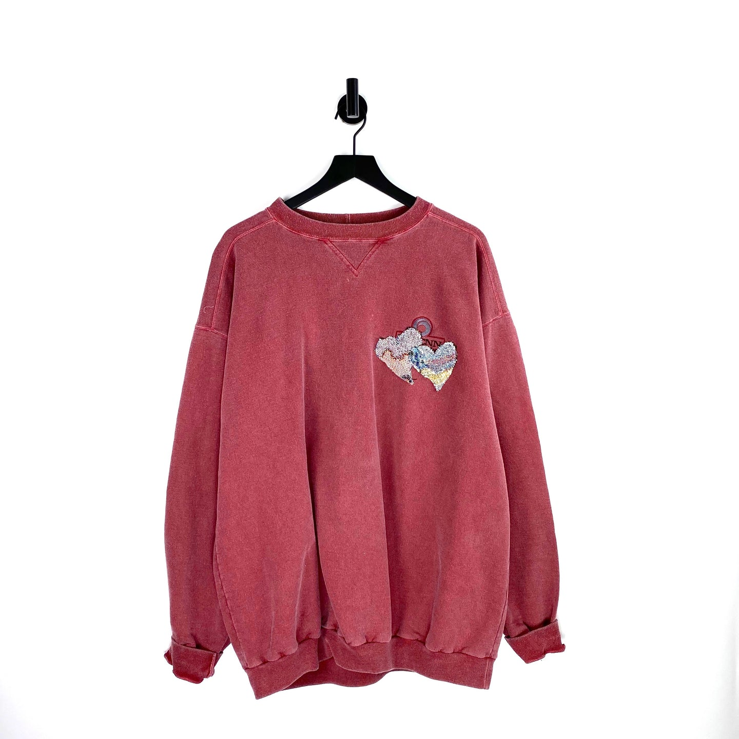 Overdyed Red Sweatshirt - XL