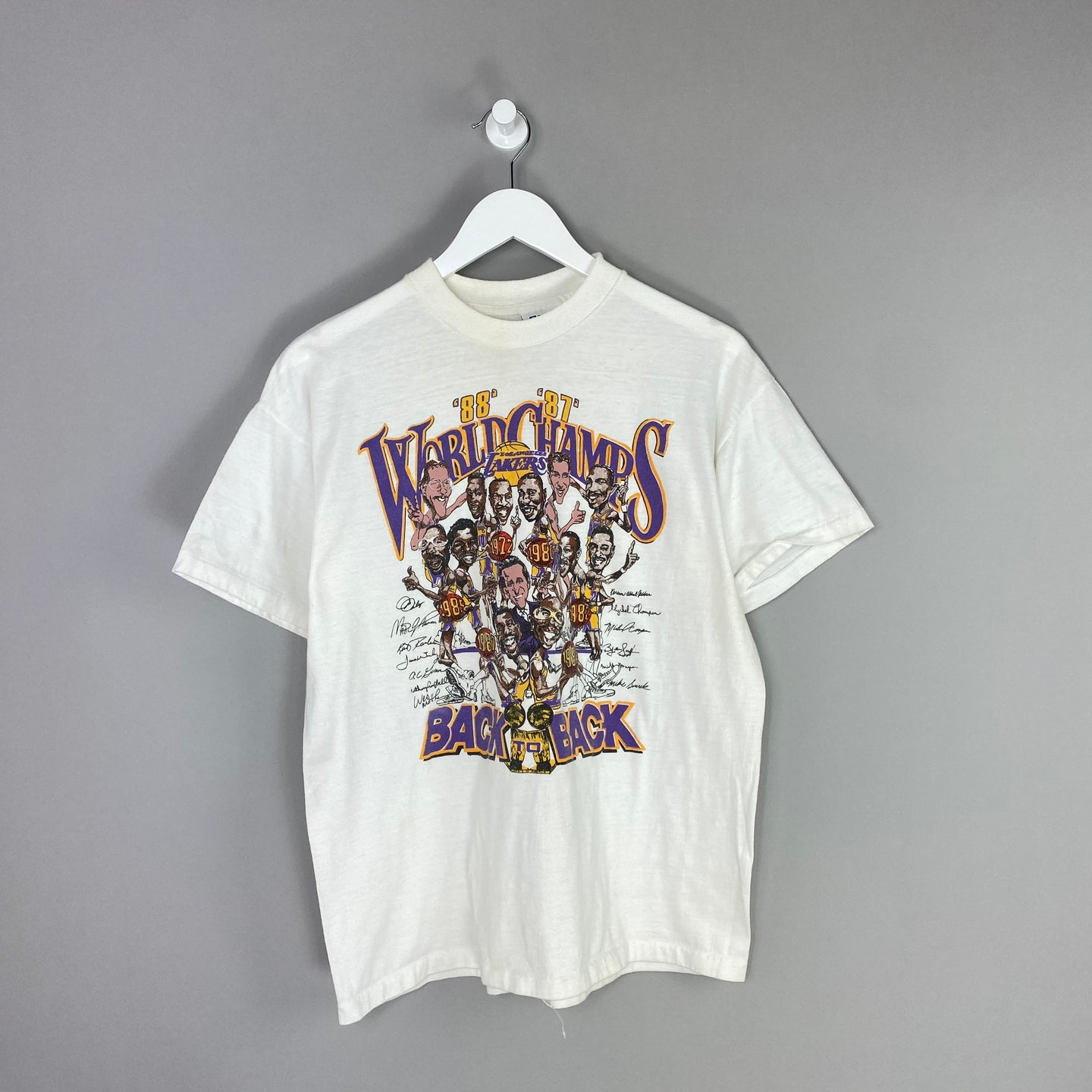 80s LA Lakers Championship T Shirt - M