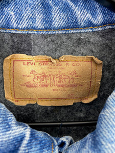 80s Levis Blanket Lined Denim Jacket - M