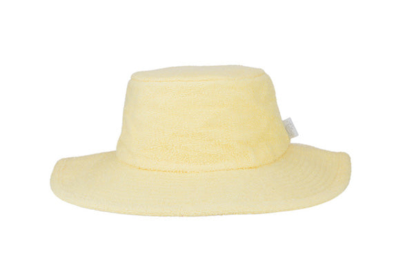 Terry Towelling Bucket Hat-Wide Brim Butter
