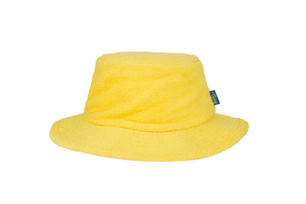 Terry Towelling Bucket Hat-Narrow Brim Yellow