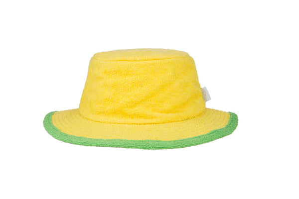 Plain Yellow & Green Narrow Brim Terry Towelling Hat - The Terry Australia