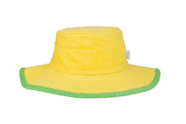 Plain Yellow & Green Terry Towelling Bucket Hat - The Terry Australia