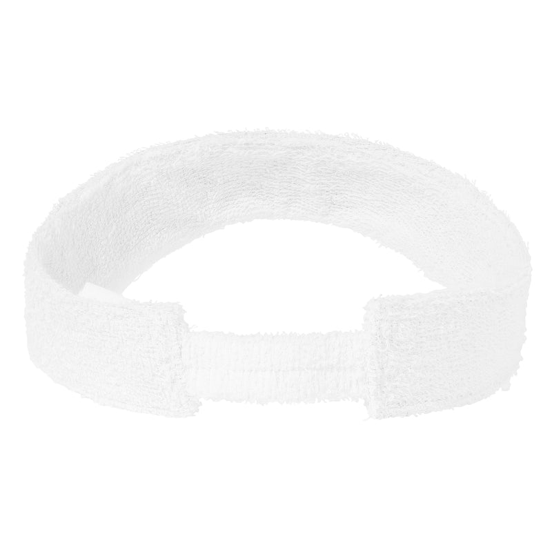 Terry Towelling Visors-White