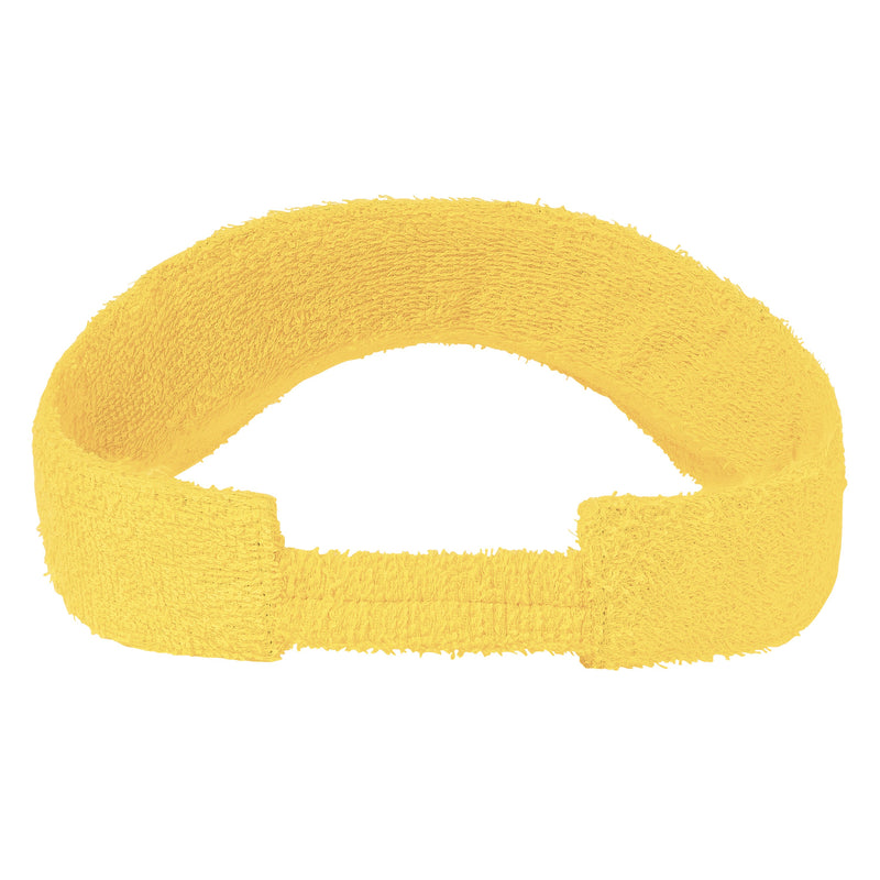 Terry Towelling Visors-Yellow
