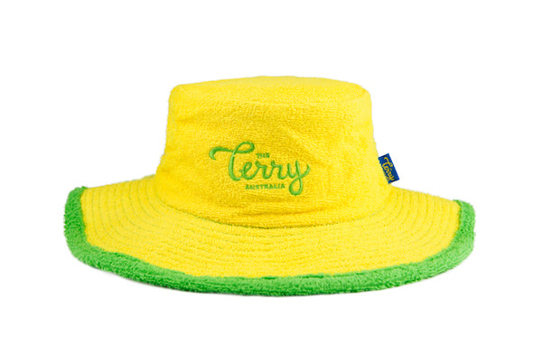 The Ol' Green and Gold Terry Towelling Bucket Hat-Yellow/Green