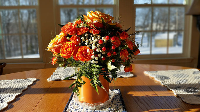 Silk Flower Arrangements in Vase