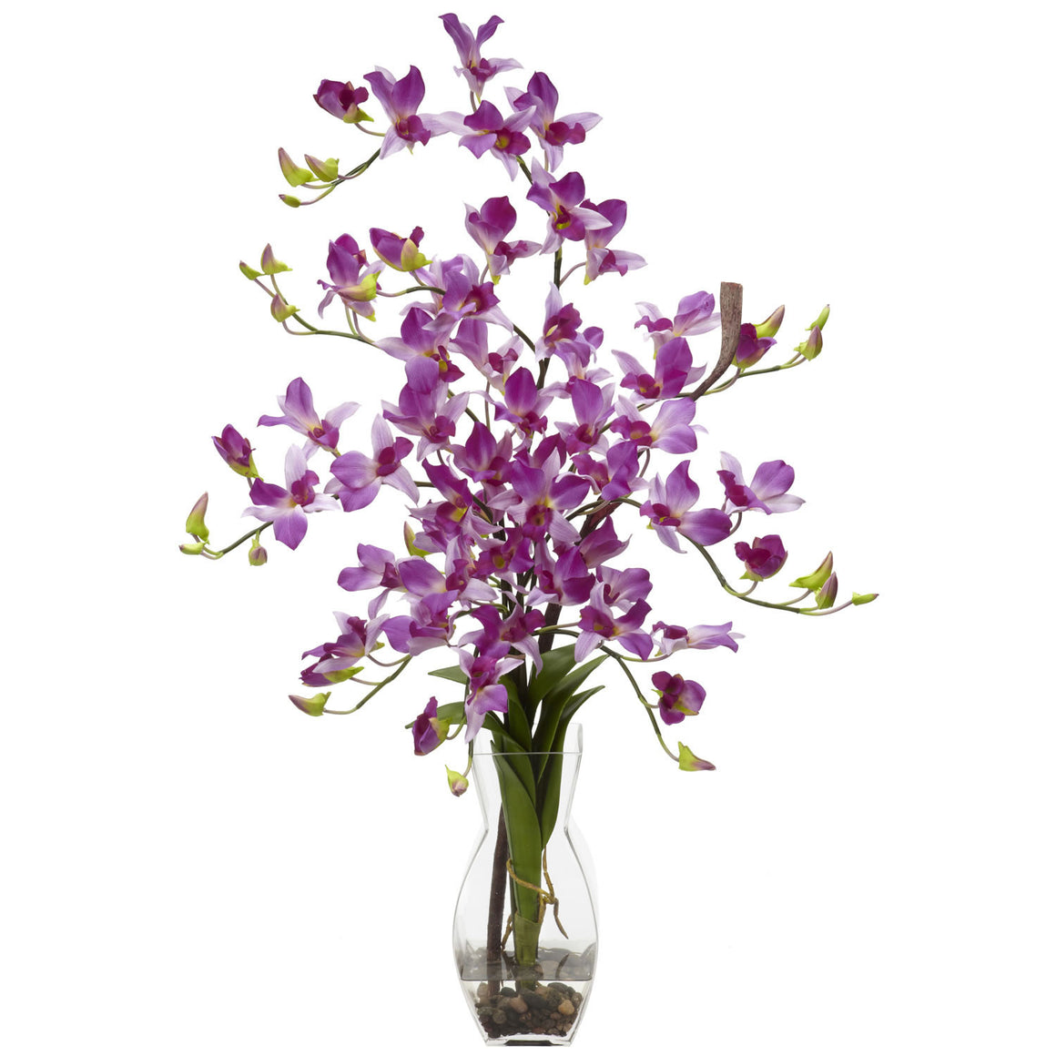 Purple Dendrobium Orchids Silk Flower Arrangement