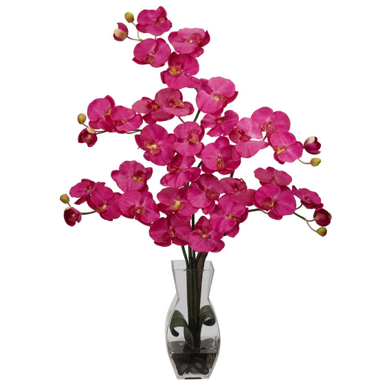 Beauty Color Phalaenopsis with Vase Silk Flower Arrangement