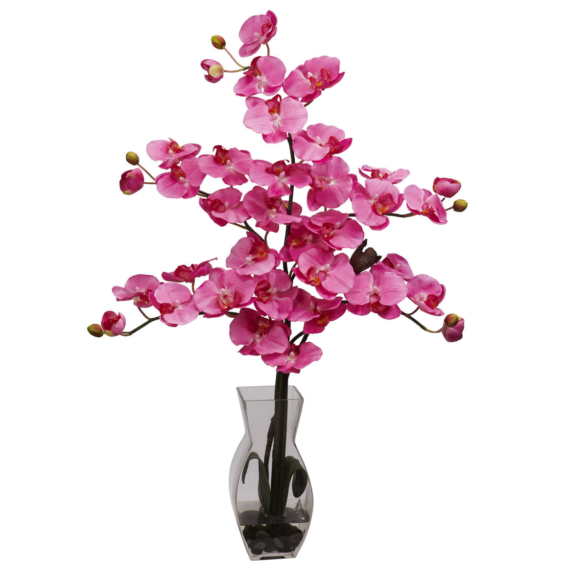 Dark Pink Phalaenopsis with Vase Silk Flower Arrangement