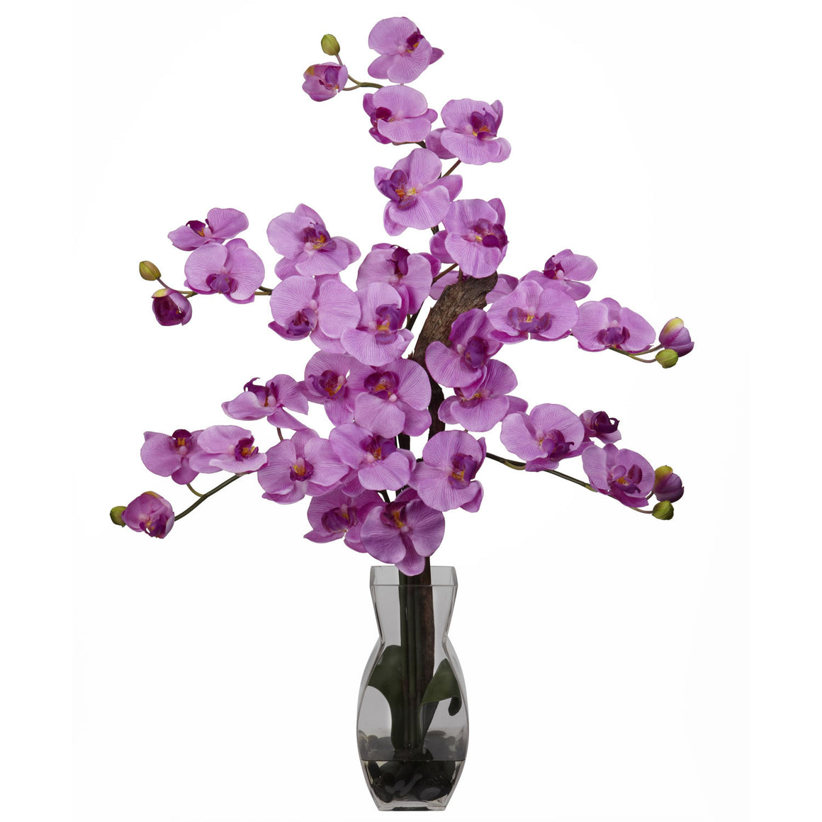 Mauve Phalaenopsis with Vase Silk Flower Arrangement