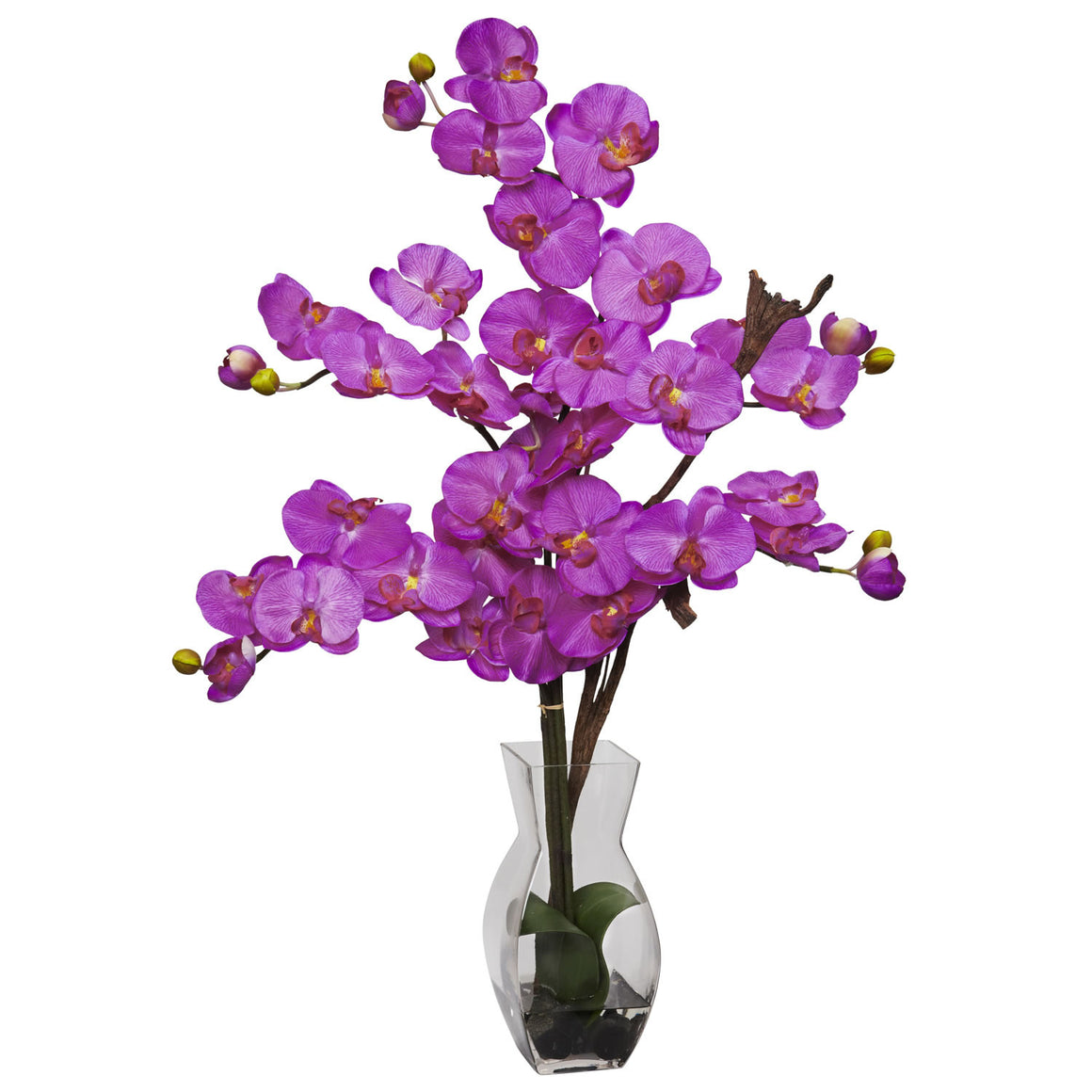 Orchid Phalaenopsis with Vase Silk Flower Arrangement