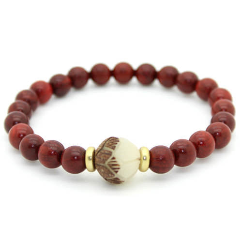 Bodhi and Natural Wood Meditation Beads Bracelet