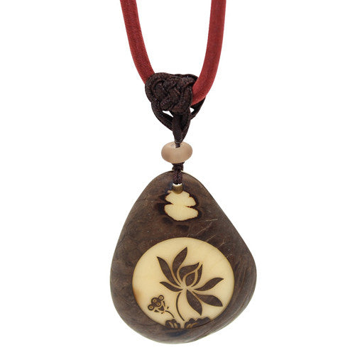 Tagua Nut Handmade Yoga Jewelry Necklace Picture 2