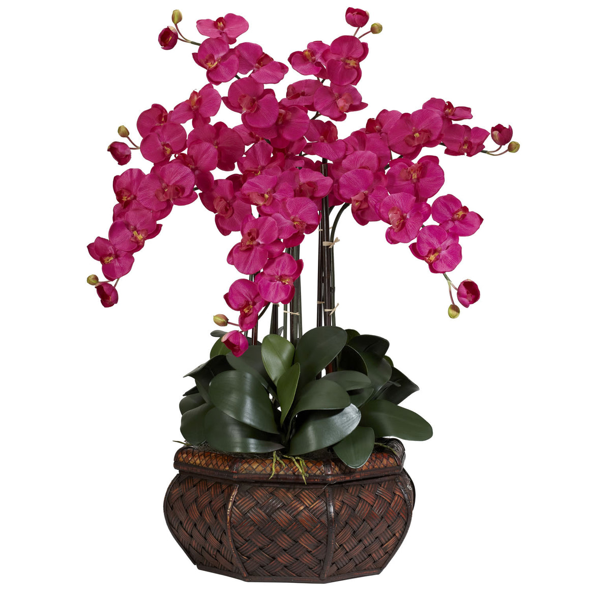 Large Beauty Color Phalaenopsis Silk Flower Arrangement