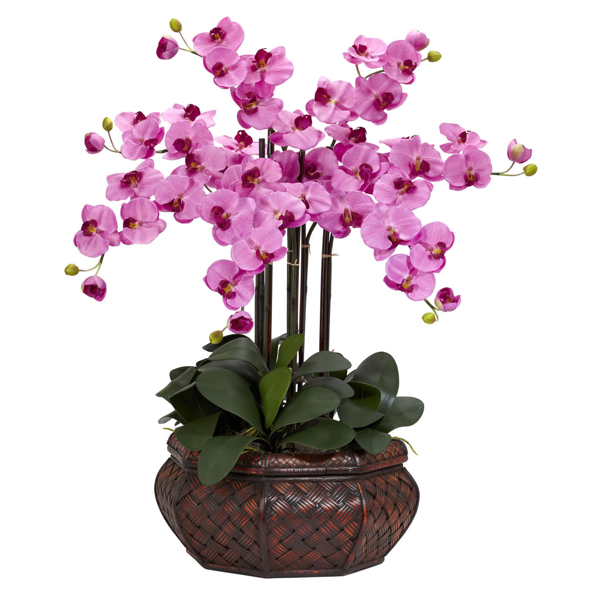 Large Mauve Phalaenopsis Silk Flower Arrangement