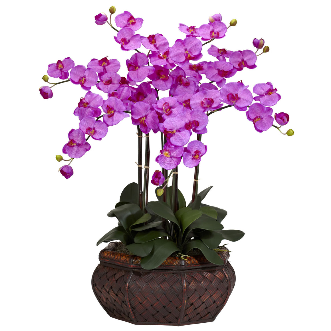 Large Orchid Phalaenopsis Silk Flower Arrangement