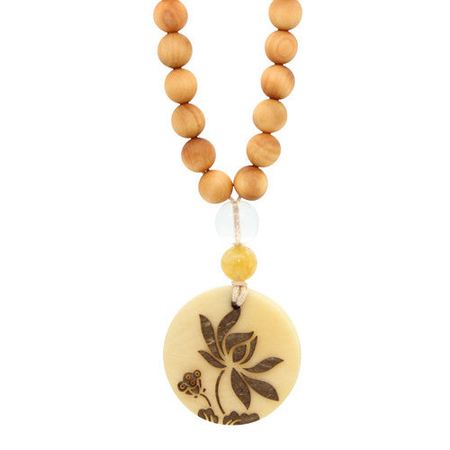 Tagua Nut Mala Beads Necklace Picture 2