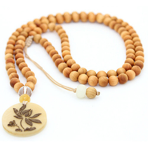 agua Nut Mala Beads Necklace