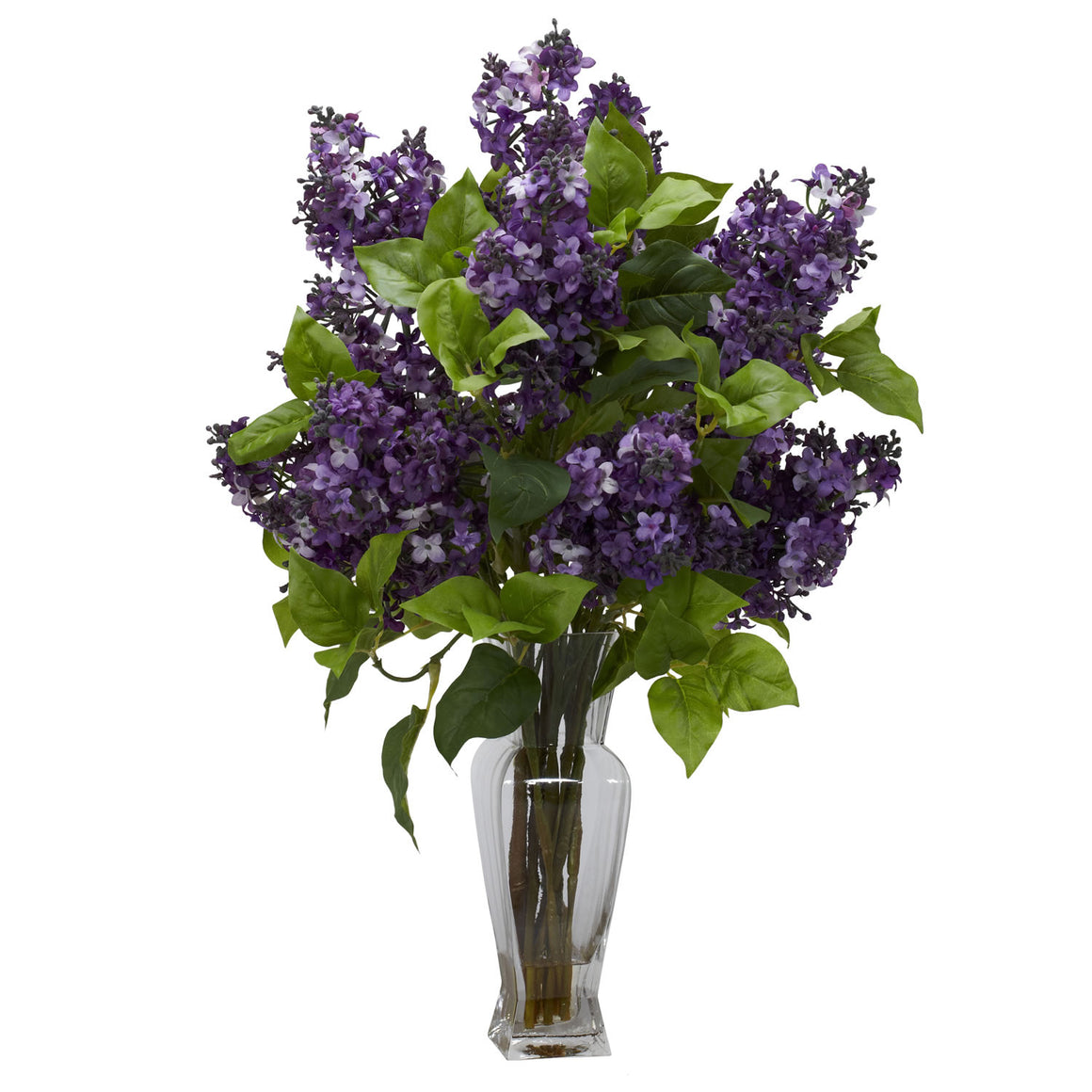 Purple Lilac Silk Flower Arrangement