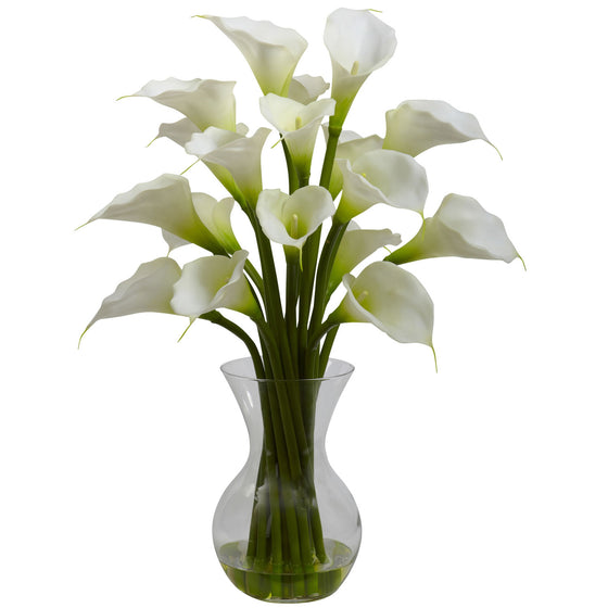 Cream Galla Calla Lily Silk Flower Arrangement