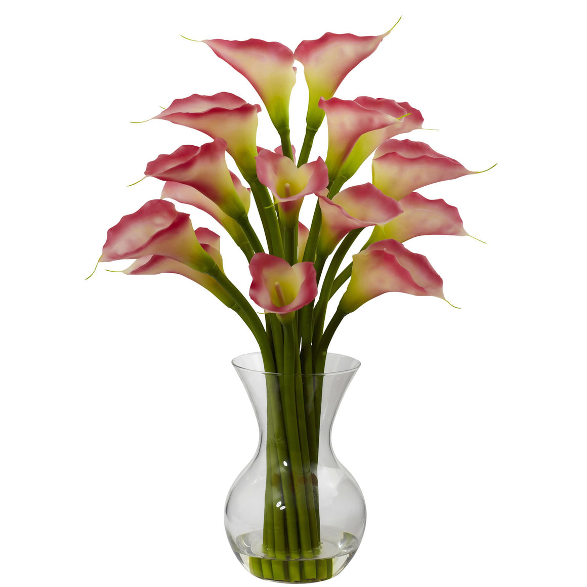 Pink Galla Calla Lily Silk Flower Arrangement