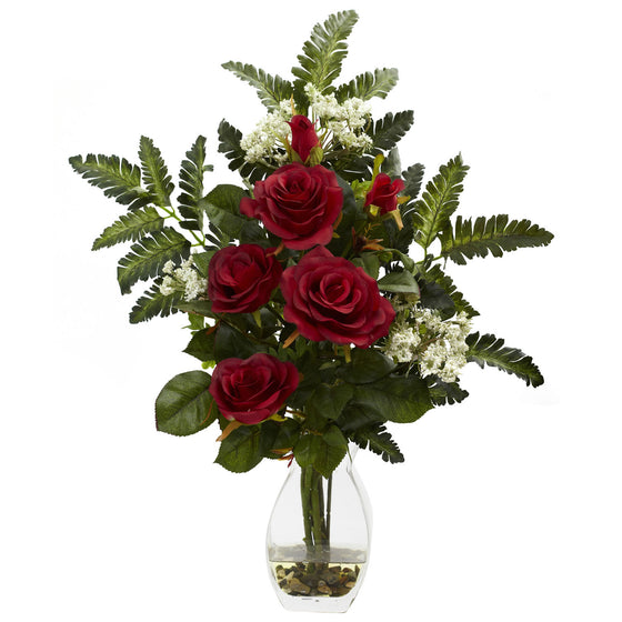 Red Rose & Chryistam Arrangement