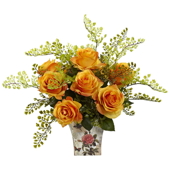 Orange Yellow Delightful Rose Planter