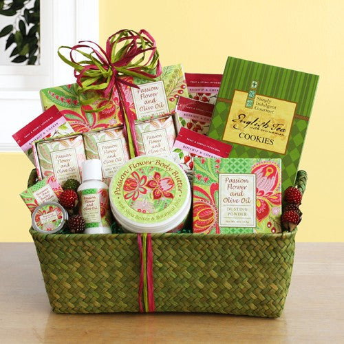 Passion Flower and Olive Oil Spa Gift Basket