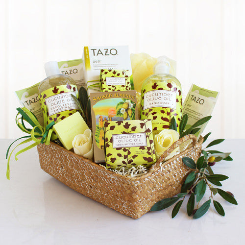 Natural Olive Oil and Cucumber Spa Gift Set