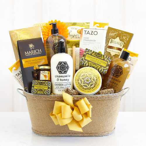 Chamomile and Honey Spa Relaxation Gift Basket