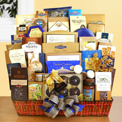 Grand Gourmet Gift Tray Basket