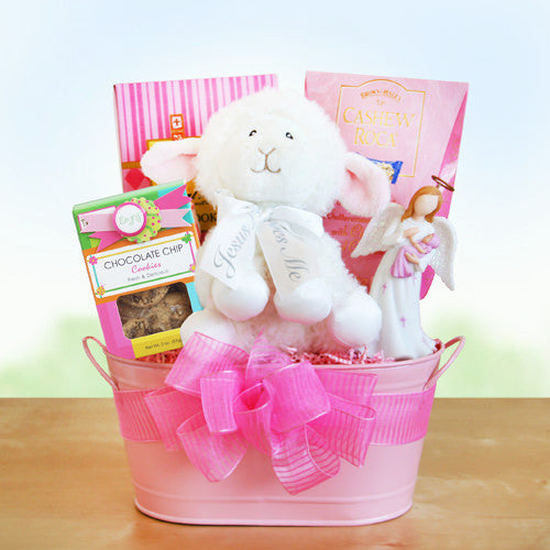 Christening Gift Basket For Baby Girl