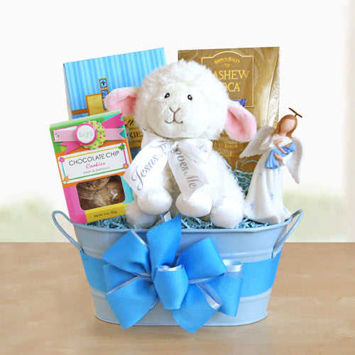 Christening Gift Basket For Baby Boy