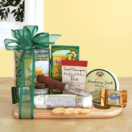 Cheeseboard with Gourmet Treats Gift