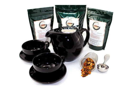 Black Zen Ceramic Combo Tea Gift Set