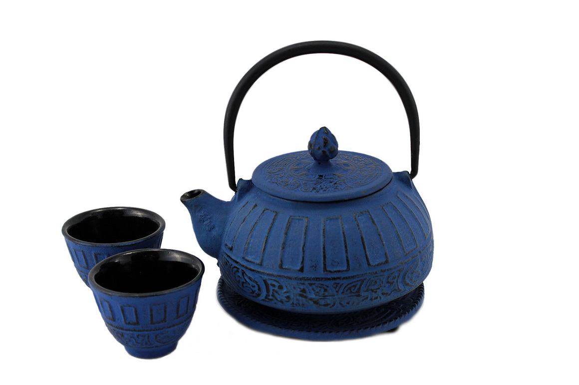 Blue Classical Tetsubin Cast Iron Tea Gift Set