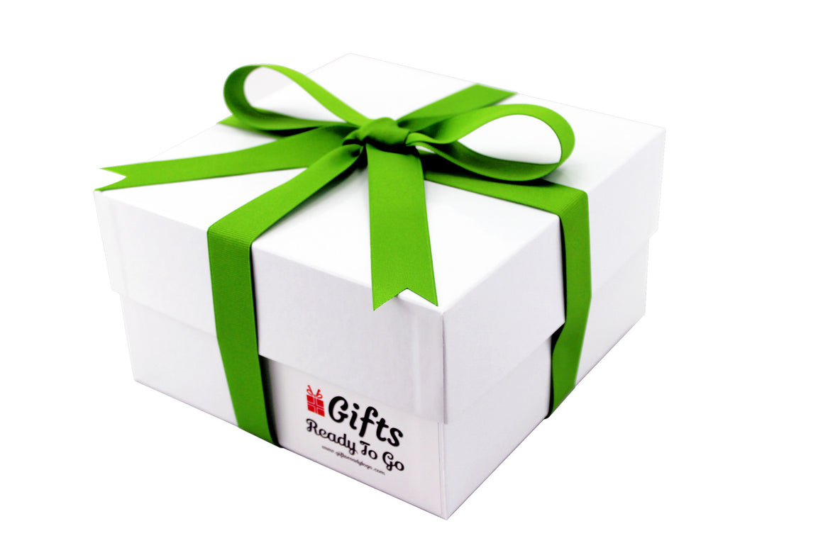 Elegant Gift Box With Green Ribbon