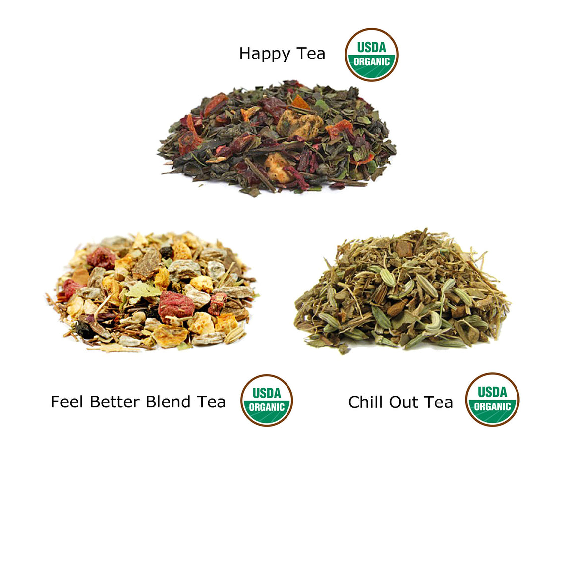 Happy, Feel Better and Chill Out Tea Gift