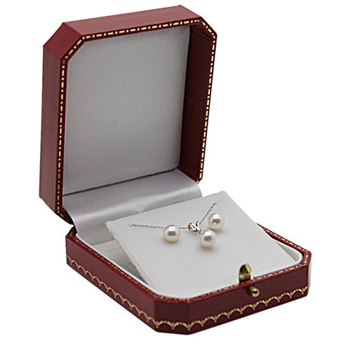 Cultured Freshwater Pearls & Diamond Pendant Set in White Gold